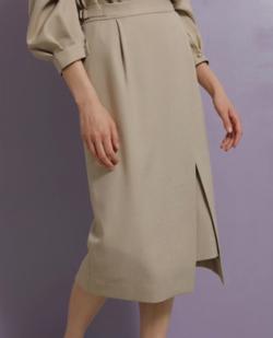 TONAL ツイードライクアシメタイトスカート