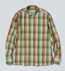 AURALEE SUPER LIGHT WOOL CHECK SHIRTS