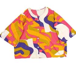 gleeful cotton design s/s shirt jacket