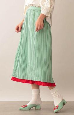 CAST: シルキータッチ プリーツスカート