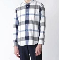 CRESTBRIDGE BLACK LABEL コットンリネンクレストブリッジチェックシャツ