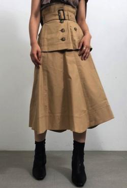 SNIDEL フレアミドルトレンチスカート