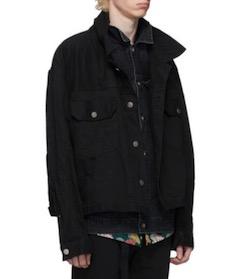 Sacai(サカイ)ブラック デニム レイヤード ジャケット
