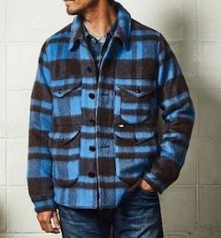 TMT PLAID FUR WORK SHIRTS-TYPE JACKET