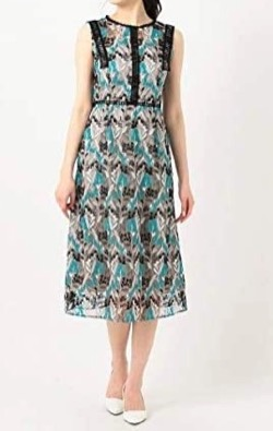 TOCCA LAVENDER Wavy Embroidery ドレス