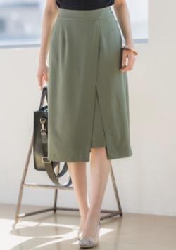 Andemiu ムジガラスリットスカート