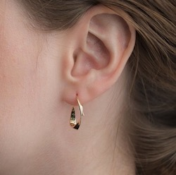 STAR JEWELRY K10 ピアス GOLD PIERCED EARRINGS