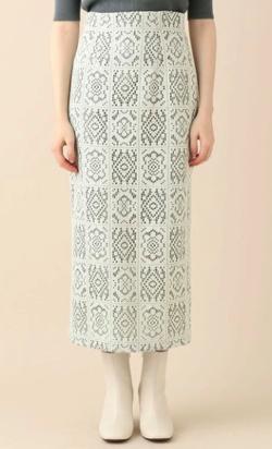 DEICY  スクエアフラワータイトスカート