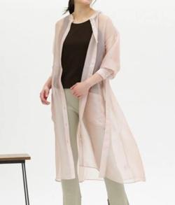 CAST: シースルーシャツドレス