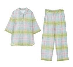 KID BLUE 20シャーリングチェック -5分袖パジャマ