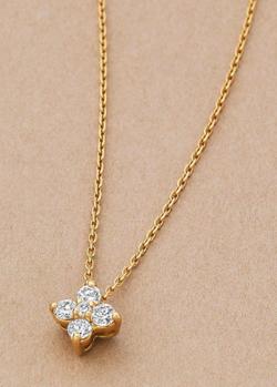 TAKE-UP K18ダイヤモンドフラワーネックレス