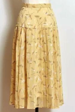 Noela スターチスフラワープリーツスカート