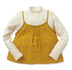 西松屋 レイヤード風小花柄長袖Tシャツ
