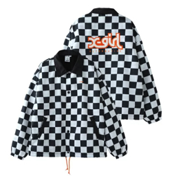 X-girl PATCHED MILLS LOGO COACH JACKET