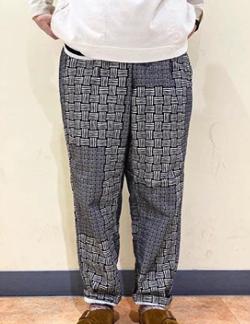 TIGRE BROCANTE Basket PrintNel Tagosaku Long Pants