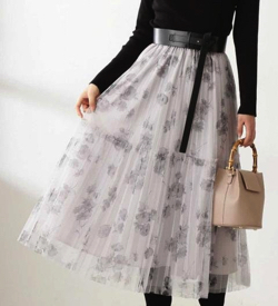 PROPORTION BODY DRESSING 《EDIT COLOGNE》フラワーチュールスカート