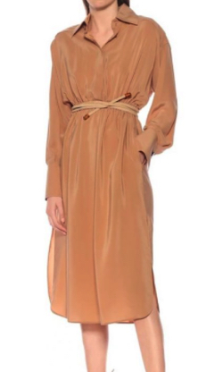 FENDI Silk midi shirt dress