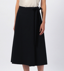 MOGA リネンナイロンシャンブレーラップスカート