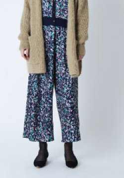 STELLA CIFFON Texture leopard print pants