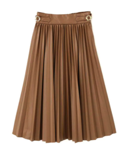 JILLSTUART カラープリーツフェイクレザースカート