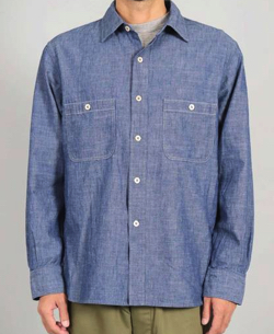 OMNIGOD オリジナルシャンブレーワークシャツⅢ