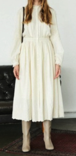MOUSSY EMBROIDERED MAXI ドレス