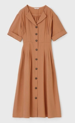MOUSSY TUCK WAIST ハーフスリーブ シャツ ドレス