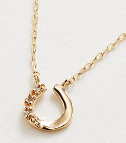 Marea rich K10YG ダイヤネックレス horseshoe