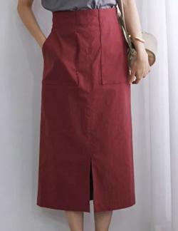 ROPÉ ポケット付きストレッチタイトスカート