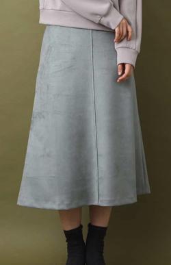 MK MICHEL KLEIN フェイクスウェード台形スカート