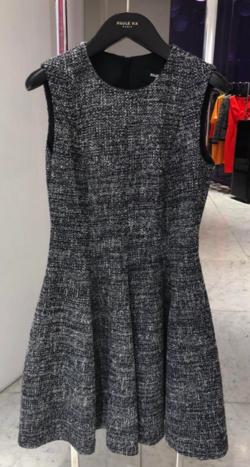 Paule Ka ノースリーブツイードドレス