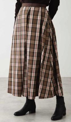 HUMAN WOMAN 5e・ハイカウントビッグチェックビーチスカート