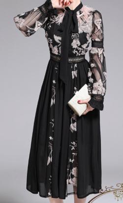 Antoinette Black party dress luxury
