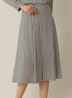 Paul Stuart WOMEN ステップスクエアプリント スカート
