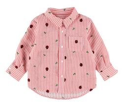 INSECT COLLECTION てんとうむしちゃんリラックスシャツ総刺繍ストライプ キッズ