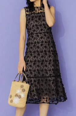 TOCCA Eyelash Embroidery ロングドレス