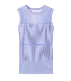 LE CIEL BLEU Transparent Sleeveless Knit Tops