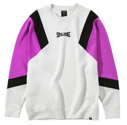 SPALDING クルーネックスウェットシャツ カラーブロック