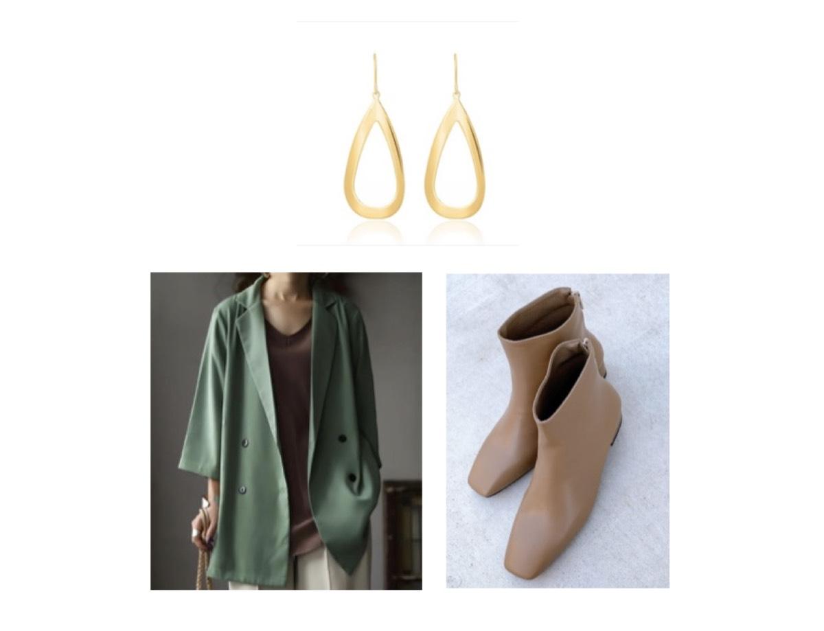 ドーキンズ英里奈さんが【前略、大とくさん】で着用しているファッション・衣装(服・バッグ・アクセサリー・腕時計・靴など)のブランドやコーデ