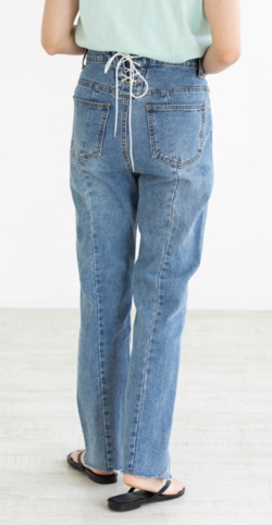 mite back silhouette denim