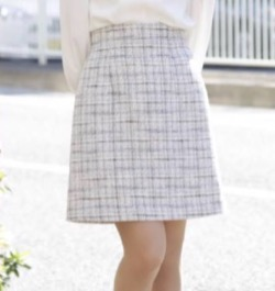 dazzlin ツイードAラインショートスカート