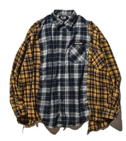 DUALISM(デュアリズム)MIX CHECK BIG SILHOUETTE OVER SHIRT 3