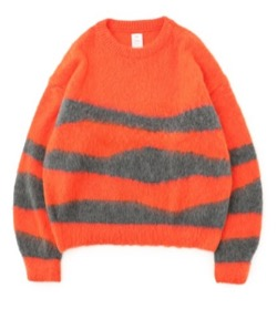 Name.  WAVE STRIPED MOHAIR KNIT
