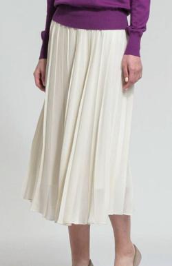 MACKINTOSH LONDON WOMEN ウールポリエステルツイルプリーツスカート