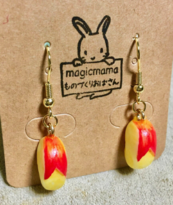 magicmama's GALLERY うさぎりんごのイヤリング