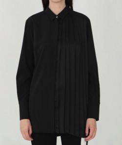 LOVELESS ハーフプリーツ ロングシャツ