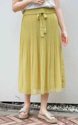 flower シアープリーツスカート