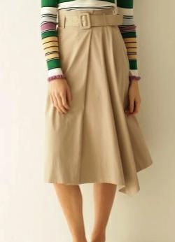 GRACE CONTINENTAL レイヤードフレアスカート