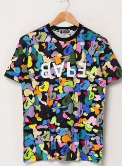 A BATHING APE MULTI CAMO BAPE TEE M