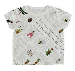 INSECT COLLECTION KODOMO 再生ペットボトル100% EncyclopedieクルーネックTシャツ blanc